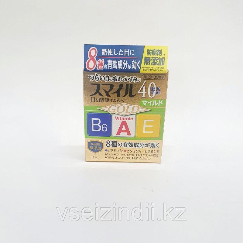 Капли для глаз с витаминами В6, А и Е «Smile 40EX Mild» Lion, 15 мл