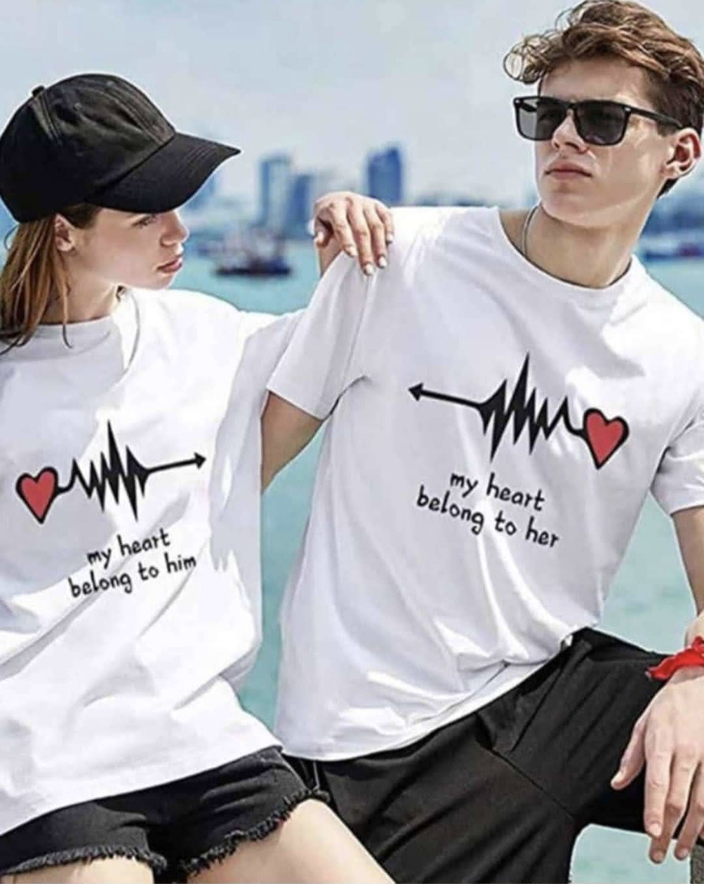 Парные футболки для влюбленных (цена указана за пару футболок)