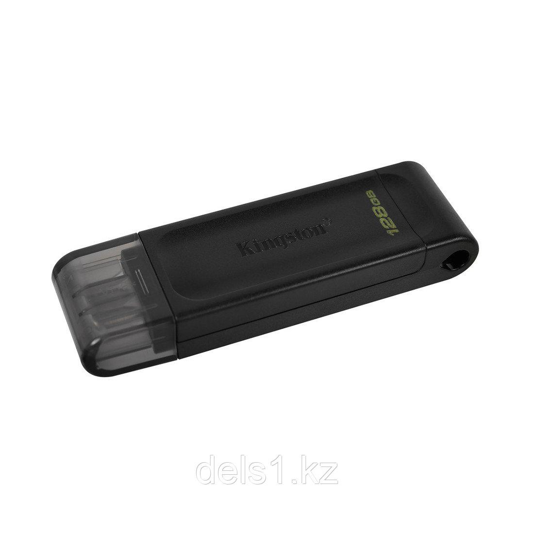 USB-накопитель Kingston DT70/128GB Type-C 128GB Чёрный