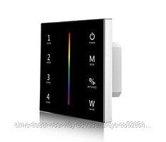 Панель SMART-P22-RGBW-G-IN Black (12-24V, 4x3A, Sens, 2.4G) (arlight, IP20 Пластик, 5 лет)