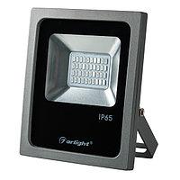 Светодиодный прожектор AR-FLG-FLAT-20W-220V Green (arlight, Закрытый)