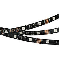 Светодиодная лента SPI-5000-5060-30 12V Cx3 RGB-Auto (Black 10mm, 6.5W/m, IP20) (arlight, Открытый, IP20)