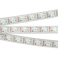 Светодиодная лента SPI-5000PGS-RAM-5060-60 12V Cx1 RGB-Auto (12mm, 8W/m, IP67) (arlight, Закрытый, IP67)