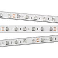 Светодиодная лента RTW 2-5000PGS 24V Yellow 2x (5060, 300 LED, LUX) (Arlight, 14.4 Вт/м, IP67)
