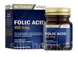 Для поддержания иммунитета Nutraxin Folic Acid 400 mcg