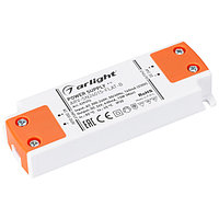 Блок питания ARV-SN24015-FLAT-B (24V, 0.63A, 15W) (Arlight, IP20 Пластик, 3 года)