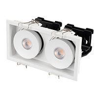 Светильник CL-SIMPLE-S148x80-2x9W Warm3000 (WH, 45 deg) (arlight, IP20 Металл, 3 года)