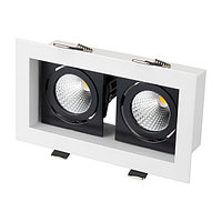 Светильник CL-KARDAN-S180x102-2x9W Warm (WH-BK, 38 deg) (arlight, IP20 Металл, 3 года)