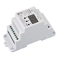 Конвертер SMART-K37-DMX (12-24V, SPI, DIN, 2.4G) (arlight, Металл)