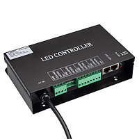Контроллер HX-SPI-DMX-SL-4P (4096 pix, 220V, TCP/IP, add, ArtNet) (arlight, IP20 Металл, 2 года)