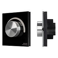 Панель SMART-P99-DIM-G-IN Black (230V, 1.5A, 0/1-10V, Rotary, 2.4G) (arlight, Стекло)