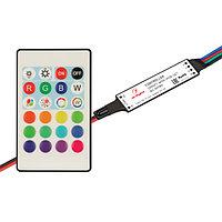 Контроллер SMART-MINI-RGB-SET (12-24V, 3x1.5A, ПДУ 24кн, IR) (arlight, IP20 Пластик, 5 лет)