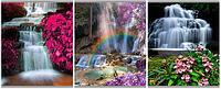 """Тетрадь 80л, скр, А4, клетка 9344/3-ЕАС ГРИН """"Волшебные водопады"""""""