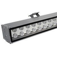 Светодиодный прожектор AR-LINE-1000XL-54W-24V RGB (Grey, 30 deg, DMX512) (arlight, Закрытый)