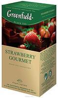 """Чай """"GREENFIELD"""" Strawberry Gourmet черный со вкусом клубники, 1,5*25"""