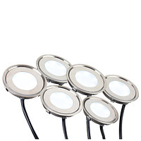 Набор KT-R-6x0.5W LED Day White 12V (круг) (arlight, IP67 Металл, 1 год)