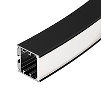 Профиль SL-ARC-3535-D1500-W90 BLACK (1180мм, дуга 1 из 4) (arlight, Алюминий)