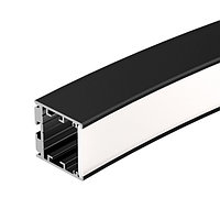 Профиль SL-ARC-3535-D1500-N90 BLACK (1180мм, дуга 1 из 4) (arlight, Алюминий)