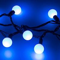 Светодиодная гирлянда ARD-BALL-CLASSIC-D23-10000-BLACK-80LED BLUE (230V, 3.5W) (Ardecoled, IP65)