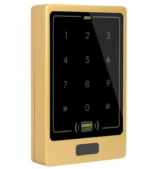 Цифровая антивандальная кодонаборная панель RFID (EMID, Mifare) TC30, металлическая, накладная, сенсорная, NO/