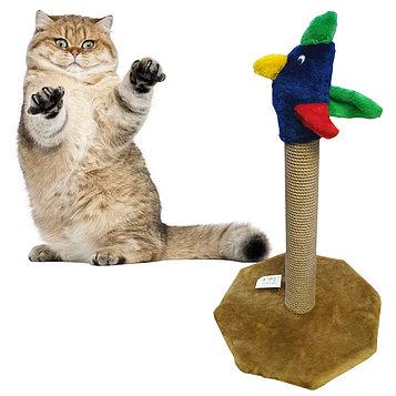 Когтеточка-столбик для кошек Попугай