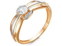 Кольцо (1,59, 17, фианиты, белое золото)
