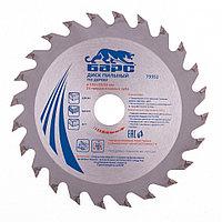 Пильный диск по дереву ф130 х 20 мм, 24 зуба + кольцо 20/16мм// Барс