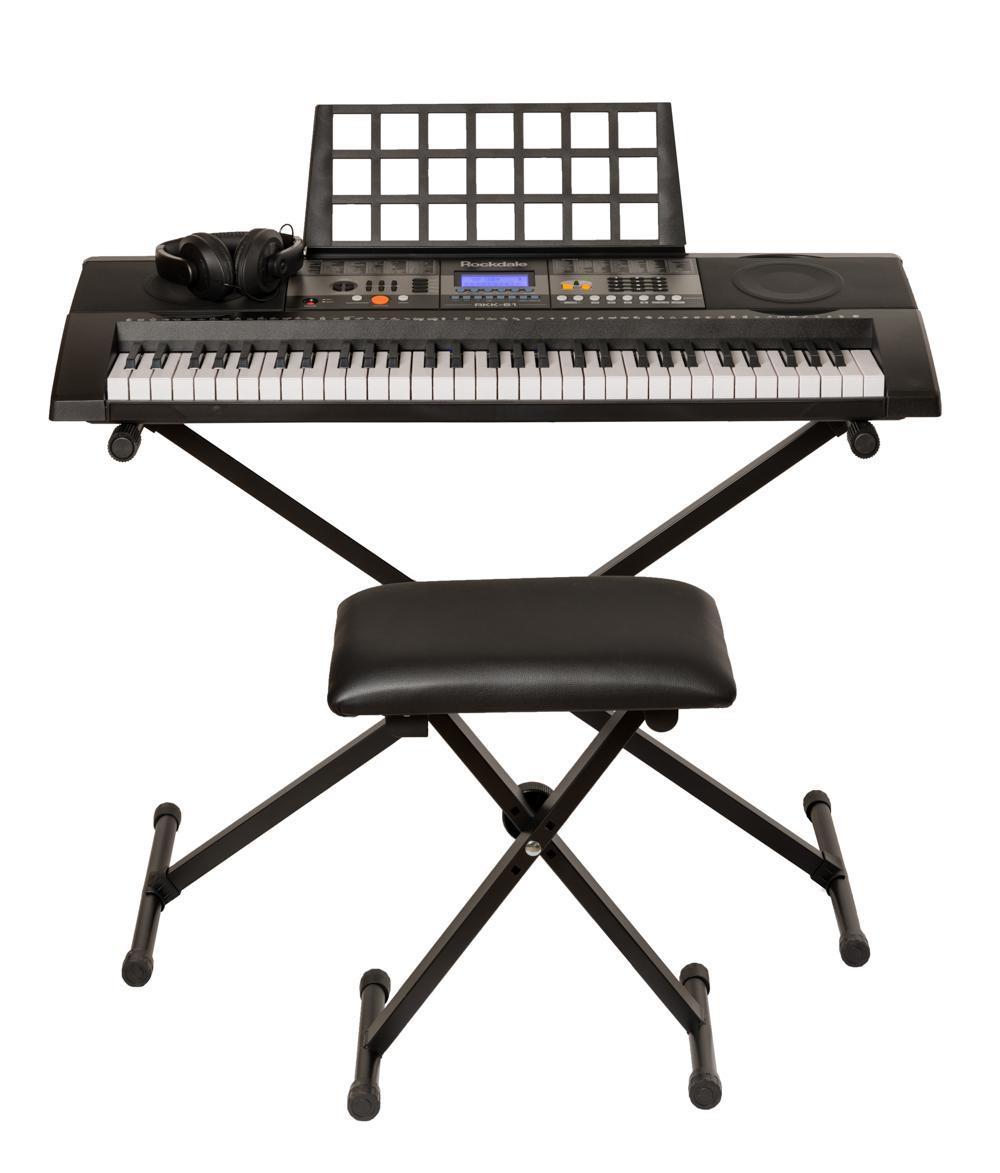 Синтезатор Rockdale RKK-61 c комплектом аксессуаров