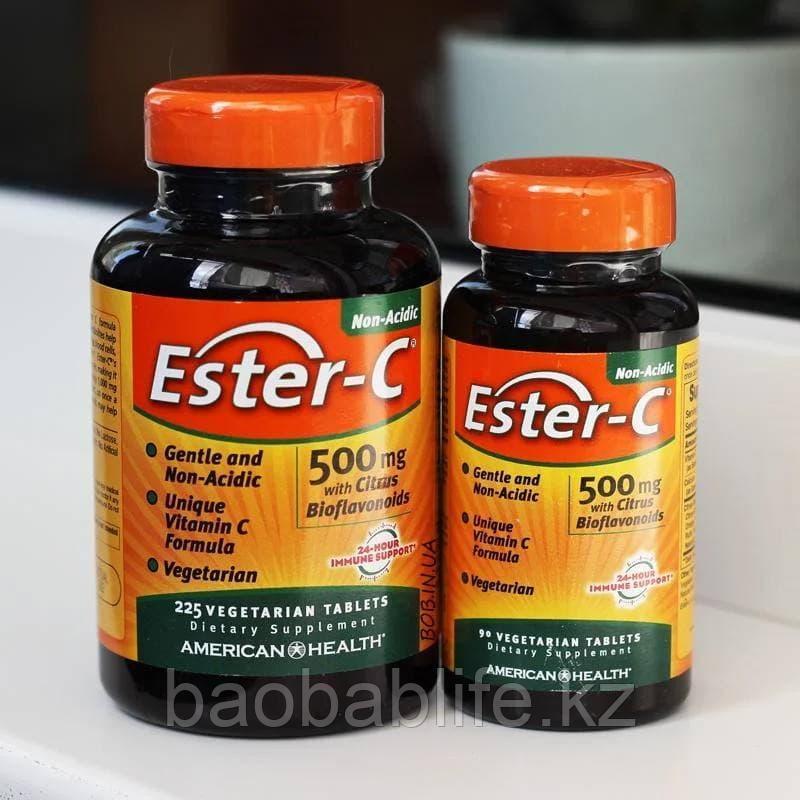 Ester-C с биофлавоноидами American Health Витамин С 500 мг, 90 вегетарианских таблеток