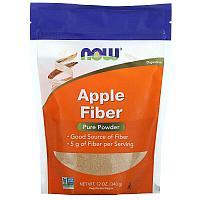 Now Foods, яблочная клетчатка, чистый порошок, 340 г (12 унций)