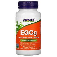 Now Foods, ЭГКГ, экстракт зеленого чая, 400 мг, 90 вегетарианских капсул