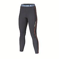 Леггинсы лайкровые женские PROLIMIT SUP Athletic Longpants Quick Dry slate black/sky blue/orange, M tv-1907-m