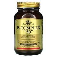 Solgar, комплекс витаминов группы B «50», 100 растительных капсул