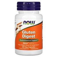 Now Foods, Gluten Digest, добавка для переваривания глютена, 60 растительных капсул
