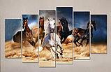 """Модульная картина """"Скачущие в песке кони"""", фото 4"""