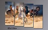"""Модульная картина """"Скачущие в песке кони"""", фото 5"""