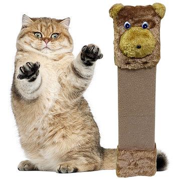 Когтеточка напольная для кошек Медведь