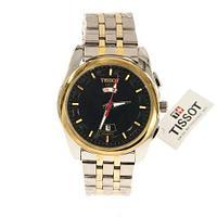 Часы наручные с календарем и днем недели Tissot 290.421 [реплика HQ] (Золотой с серебряным)