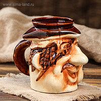 "Бокал ""Пират"", с приколом, керамика, 0.5 л"
