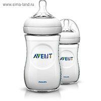 Бутылочка для кормления Natural, 260 мл, от 1 мес., набор 2 шт.