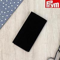 Заплатка для одежды, 30 × 10 см, пришивная, цвет чёрный