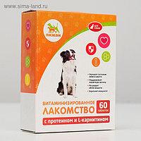 "Лакомства ""Пижон"" для собак, с протеином и L-карнитином, 60 табл."