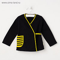 Жакет для девочки, цвет чёрный/жёлтый, рост 92 см
