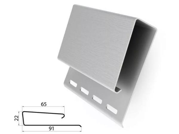 Профиль J широкий (наличник) Белый 3000 мм Grand Line