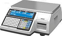 Весы торговые CAS CL-3000-15B с печатью этикеток.
