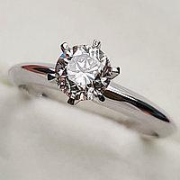 Золотое кольцо с бриллиантами 0.78Сt VS2/K EX-Cut, фото 1