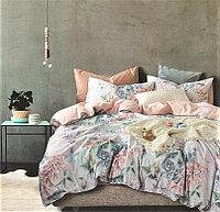 Комплект постельного белья двуспальный из сатина с птицами и цветами