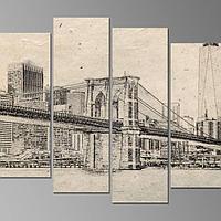 Картина Нью-Йорк карандашом