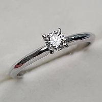 Золотое кольцо с бриллиантами 0.18Сt SI1/H, Ex-Cut