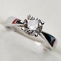 Золотое кольцо с бриллиантом 0,87Сt VVS2/M Ex-Cut